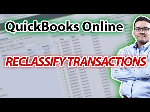 Reclassify Transactions in QuickBooks Online