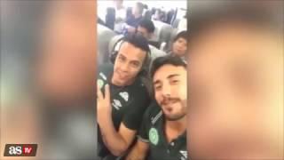 شاهد.. اللحظات الاخيرة من داخل طائرة فريق شابيكوبينسي البرازيلي قبل تحطمها