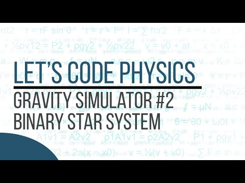 Gravity Simulator - Episode 2 (Binary Star System) - UPDATED LINK IN DESCRIPTION