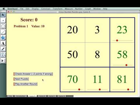 Cross Number Puzzles—Addition and Subtraction - YouTube