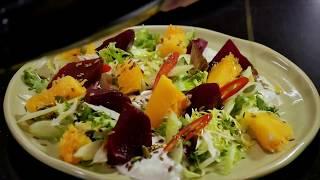 Как удивить гостей, салат со свеклой и тыквы, пошаговый рецепт. Диетический овощной салат