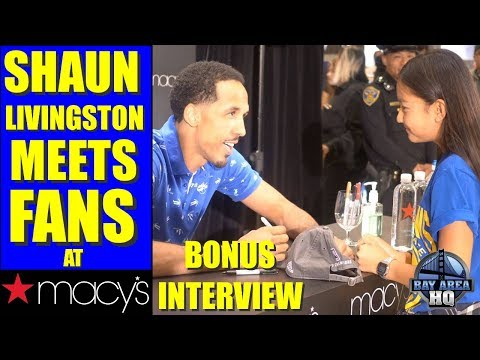 SHAUN LIVINGSTON INTERVIEW at MACY'S ! GH5 Footage! GOLDEN STATE WARRIORS, LONZO BALL, more!