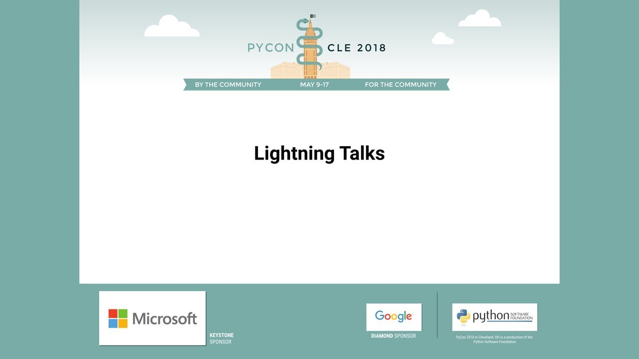 Image from Lightning Talks Thursday 2018-05-10