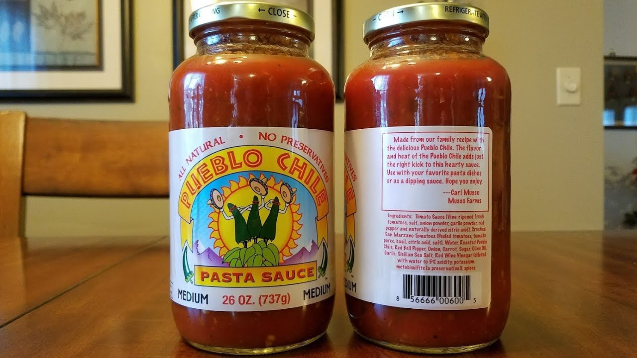 Musso Farms Pueblo Chile Pasta Sauce Review Youtube