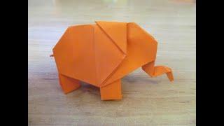 как сделать слона из бумаги. Оригами слон из бумаги. 3D