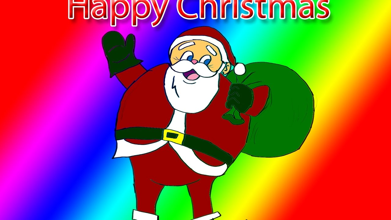 how to draw santa claus face step by step easy youtube