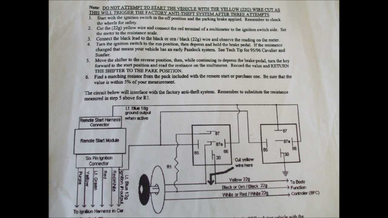 hight resolution of installing audiovox prestige alarm with a gm passlock interface how to schematic youtube