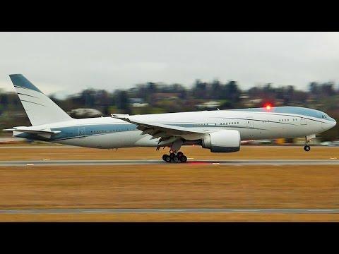 [FullHD] Aviation Link Boeing 777-200(LR) landing at Geneva/GVA/LSGG