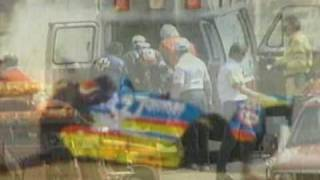 Nelson Piquet crash in the Indy 500 practice in 1992