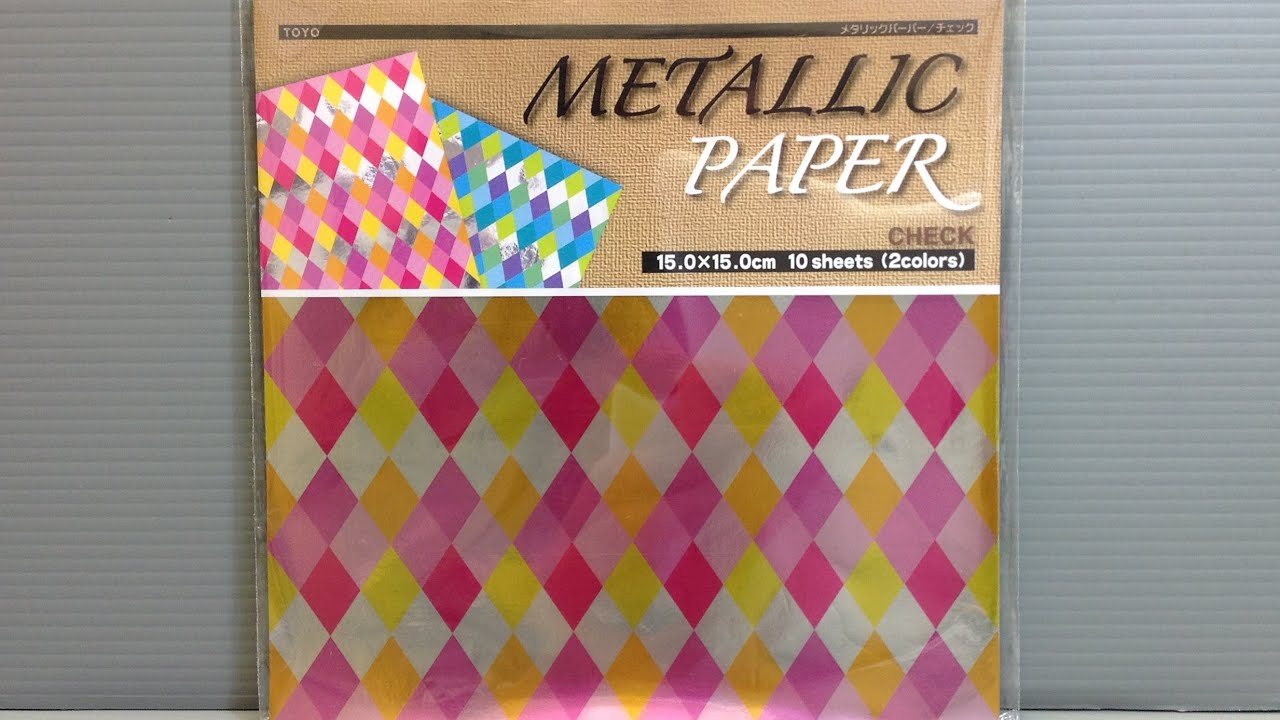 Toyo metallic check foil origami paper unboxing youtube toyo metallic check foil origami paper unboxing jeuxipadfo Images