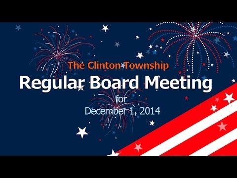 Clinton Township Board Meeting 12-01-2014
