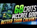 WORLD RECORD?! INSANE 68 Critical Hits McCree Game! ft. Boostio