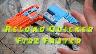 Nerf Shotgun Shells: Nerf Sledgefire Shell Holder Nerf Hack and Nerf Zombie Strike Reloading Trick!
