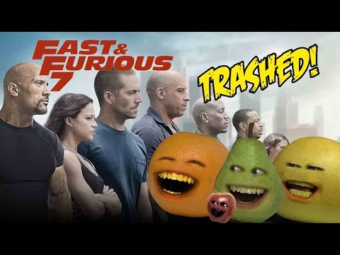 Annoying Orange - Fast & Furious 7 TRAILER Trashed!!