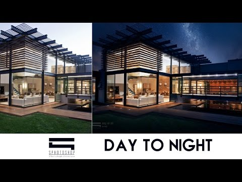 Convert Day To Night - Photoshop Architecture
