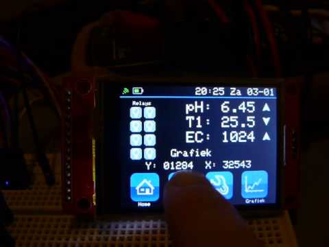 STM32 touch screen, xpt2046(ads7843) and ili9341 2 4