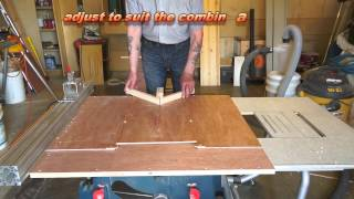 Combination Mini Table Saw Sleds
