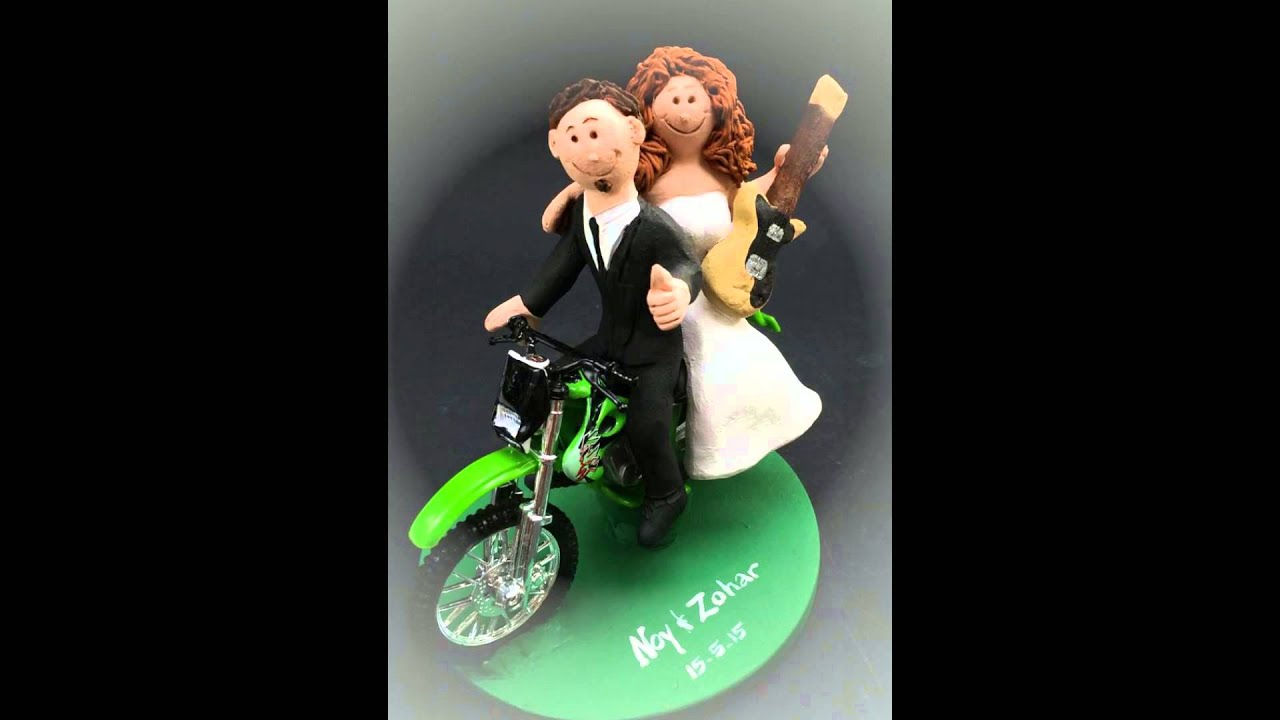 Biker Wedding Cake Toppers