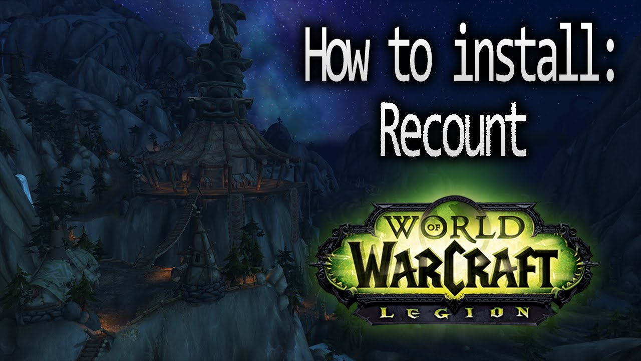 World of Warcraft: How to install Recount (Damage Meter)