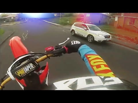 Cops Vs Bikers [Ep.#19] Dirtbikes TROLL Police! Crazy Wheelies & Burnouts!! 2016