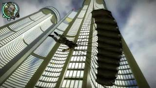Just Cause 2 - Base Jump and Building Climb.avi