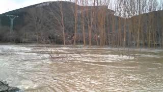 Otra Crecida del Río Nela en Trespaderne 26-02-2015