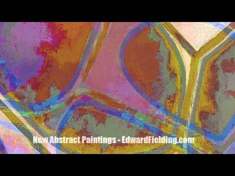 Details of new abstract paintings by Edward M. Fielding