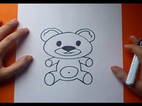 Como dibujar un oso de peluche paso a paso 7  How to draw a teddy