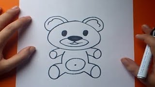 Como dibujar un oso de peluche paso a paso 7 | How to draw a teddy bear 7