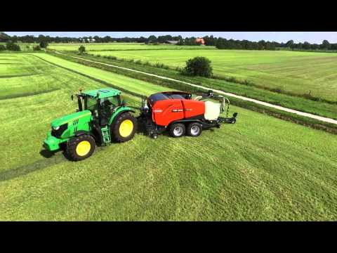 KUHN New FB / FBP - Round Baler-Wrapper Combinations (In Action)