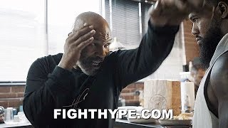 "MIKE TYSON TEACHES SIGNATURE MOVES TO ""THE BEAST""; BADDEST MAN ON THE PLANET MENTORING JAM"
