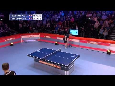 World champs of Ping Pong 2015: final Baggaley(ENG) - Flemmi