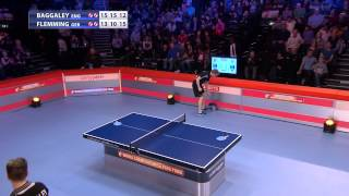 World champs of Ping Pong 2015: final Baggaley(ENG) - Flemming(GER)