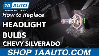 How to Replace Headlight Bulbs 07-13 Chevy Silverado