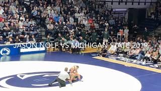 Penn State Wrestling 2019 - Jason Nolf gets the Pin VS Michigan State