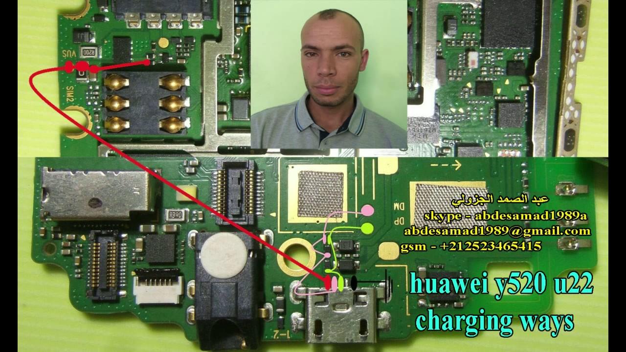huawei y520 u22 charging ways solution مسارات الشحن هواوي