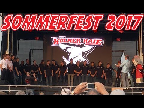 Vorstellung der Kölner Haie beim Sommerfest 2017