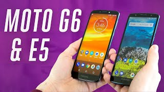 Motorola Moto G6 and E5 hands-on