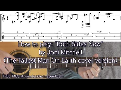 Both Sides Now - Joni Mitchell - Tallest Man on Earth cover - Guitar Lesson