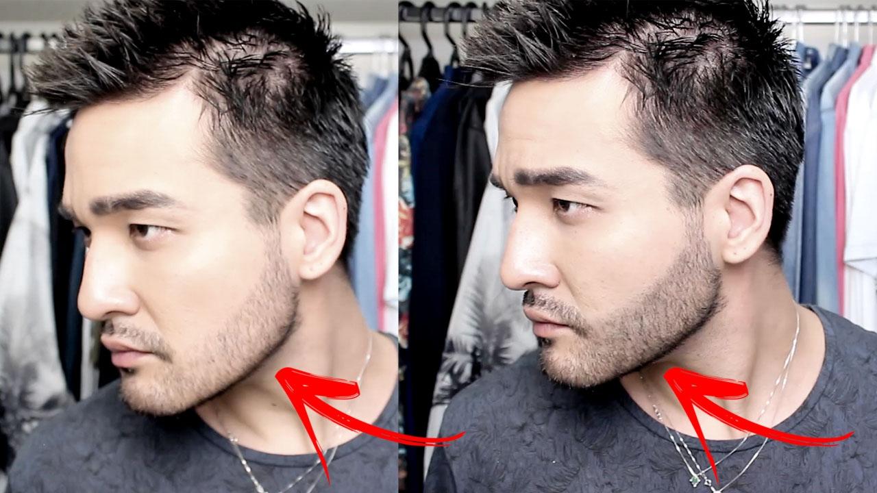 corrigir falhas na barba