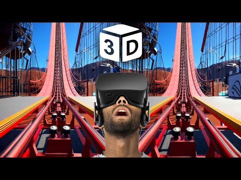 VR VIDEO 3D VR Roller Coaster 3D SBS [Google Cardboard VR Box 3D 360 VR] Virtual Reality 3D SBS