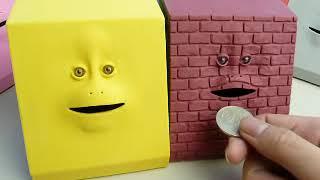 キモイ顔の貯金箱「FACE BANK」動作ムービー