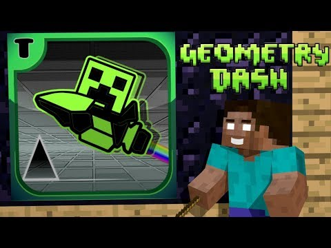 Monster School: Geometry Dash Challenge - Minecraft Animation