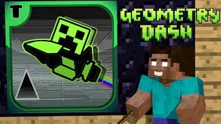 - Monster School Geometry Dash Challenge Minecraft Animation