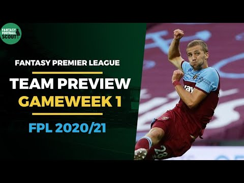 FPL 2020/21: Gameweek 1 Preview - Team News | Fantasy Premier League Tips 2020/21
