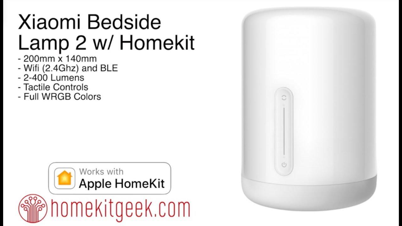 Xiaomi Bedside Lamp 2 With Apple Homekit Youtube