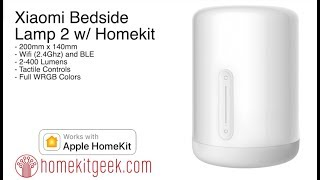 Xiaomi Bedside Lamp 2 with Apple Homekit