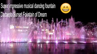 Musical fountain dances Mission Impossible Dadaepo Sunset Fountain of Dream Busan Korea 다대포 꿈의 낙조분수