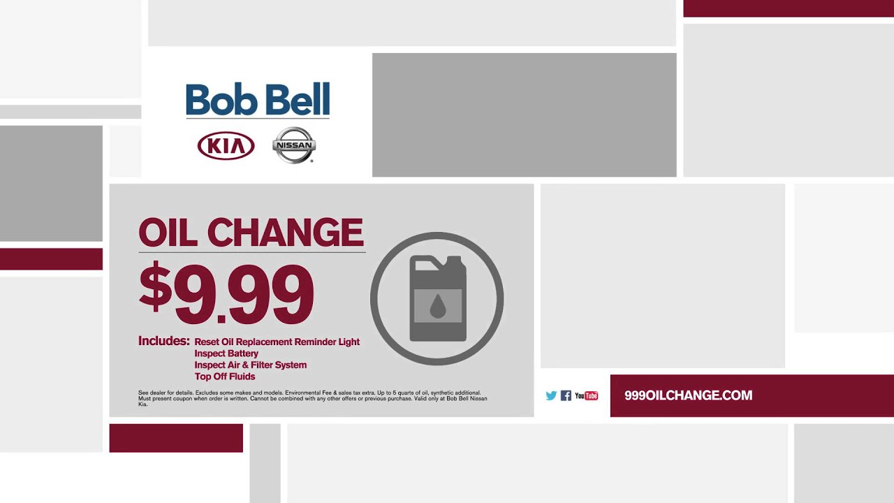 $9.99 Full Service Oil Change | Bob Bell Nissan Baltimore MD