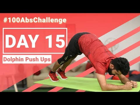 Dolphin Push Ups for Beginners | Improve your Core Strength | 30 Days #100AbsChallenge Day 15